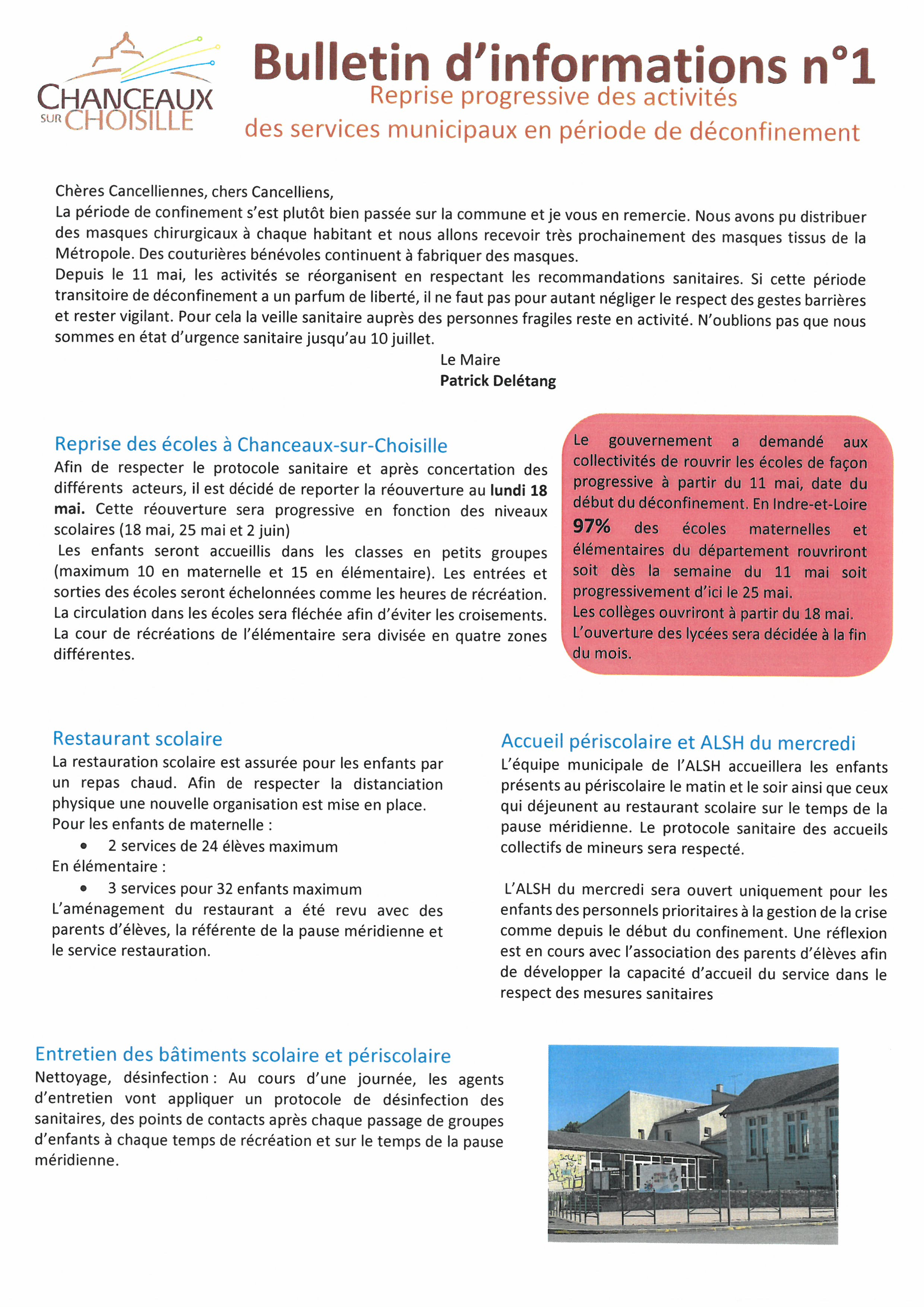 Bulletin dinformation n1
